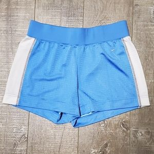 Blue and White Nike Active Shorts